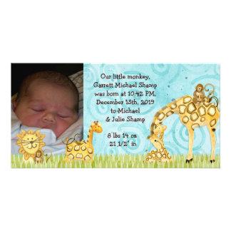 Little Monkey Boy Baby Birth Announcement
