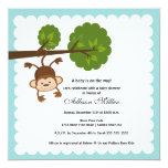 Little Monkey Boy Baby Shower Invitation
