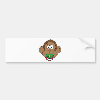 Little Monkey Bumper Sticker