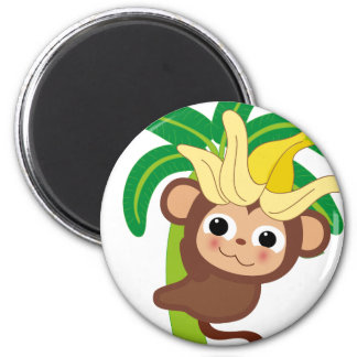 Little Monkey Collection 105 2 Inch Round Magnet