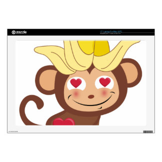 """Little Monkey Collection 107 Decal For 17"""" Laptop"""