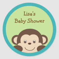 Little Monkey Envelope Seals Stickers