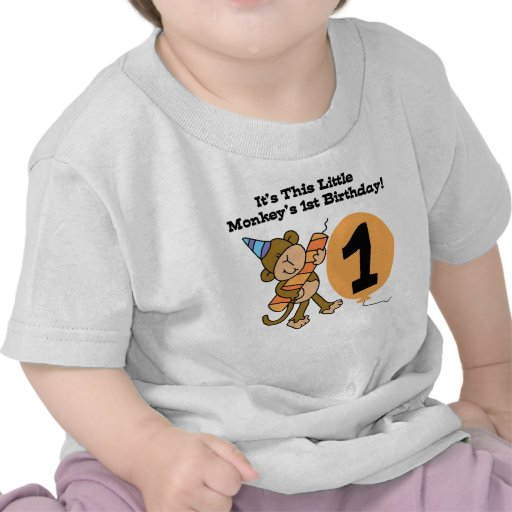 TShirtGifter Presents Little Monkey First Birthday Shirts