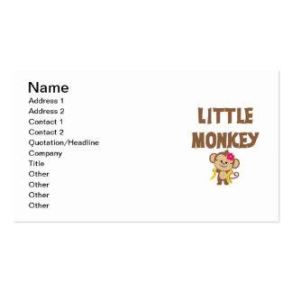 Little Monkey (Girl) Business Cards