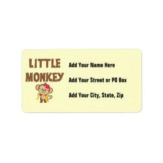 Little Monkey (Girl) Label