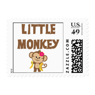 Little Monkey (Girl) Postage Stamps
