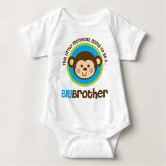 Little Monkey Going To Be A Big Brother Baby Bodysuit