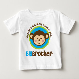 Little Monkey Going To Be A Big Brother Baby T-Shirt