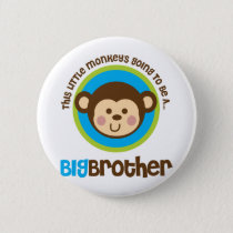 Little Monkey Going To Be A Big Brother Button