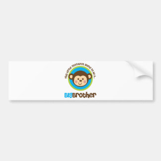 Little Monkey Going To Be A Big Brother Car Bumper Sticker