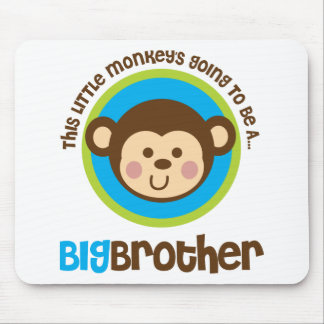 Little Monkey Going To Be A Big Brother Mouse Pad