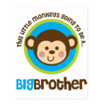 Little Monkey Going To Be A Big Brother Postcard