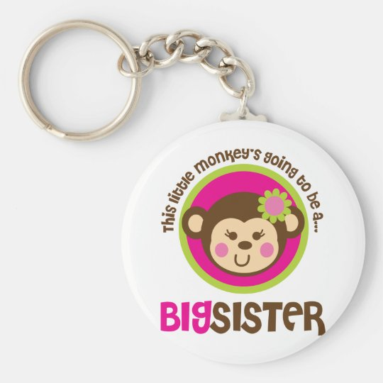 Little Monkey Going To Be A Big Sister Keychain