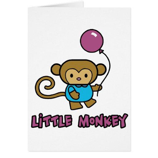 Little Monkey Greeting Card