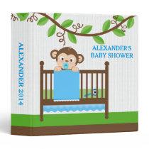 Little Monkey in a Crib Boy Photo Album Binder