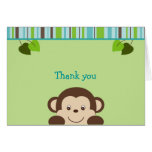 Little Monkey Jungle Thank You Note Cards