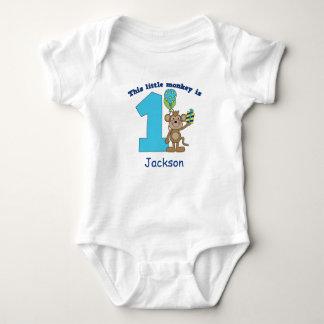 Little Monkey Kids 1st Birthday Personalized Baby Bodysuit
