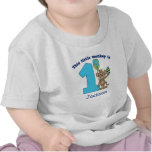 Little Monkey Kids 1st Birthday Personalized Tshirts