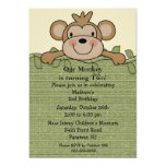 Little Monkey Kids Birthday Invitation