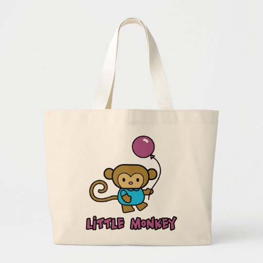 Little Monkey Large Tote Bag