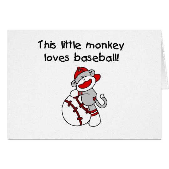 Little Monkey Loves Baseball Card