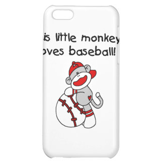 Little Monkey Loves Baseball T-shirts and Gifts iPhone 5C Cover