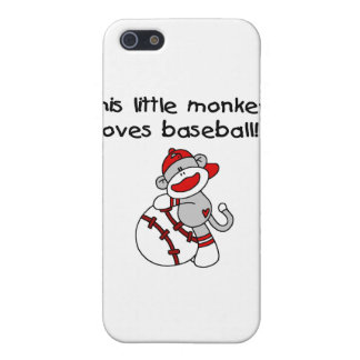 Little Monkey Loves Baseball T-shirts and Gifts Cover For iPhone 5