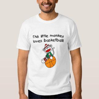 Little Monkey Loves Basketball T-shirt
