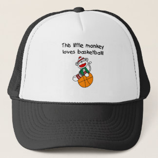Little Monkey Loves Basketball Trucker Hat