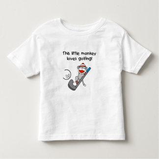 Little Monkey Loves Golfing Toddler T-shirt