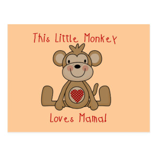 Little Monkey Loves Mama T-shirts and Gifts Postcard