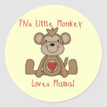 Little Monkey Loves Mama T-shirts and Gifts Sticker