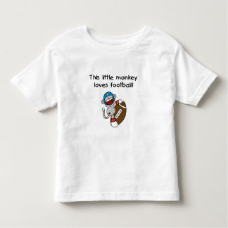 Little Monkey Plays Football Toddler T-shirt