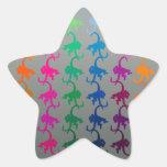 Little monkey silver star sticker