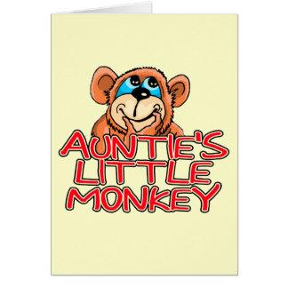 Little Monkey Tshirts y regalos de tía Felicitaciones
