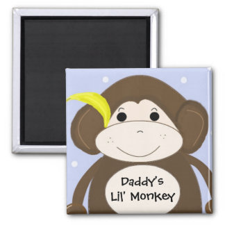 Little Monkey With Cute Saying Magnet