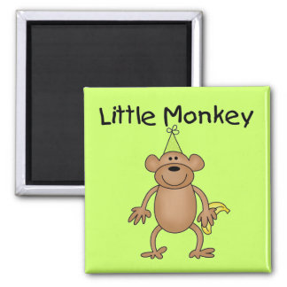 Little Monkey with Party Hat Tshirts and Gifts Magnet