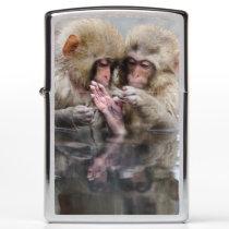Little Monkeys | Hot Springs, Japan Zippo Lighter