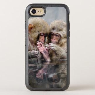 Little monkeys in hot spring, Japan. OtterBox Symmetry iPhone 7 Case