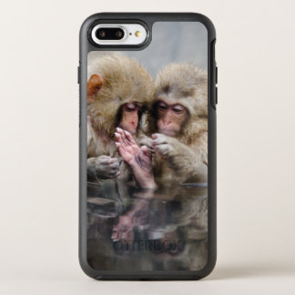 Little monkeys in hot spring, Japan. OtterBox Symmetry iPhone 8 Plus/7 Plus Case