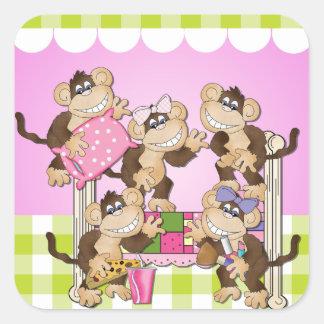 Little Monkeys Sleepover Stickers