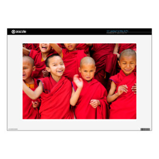 Little Monks in Red Robes Decals For Laptops
