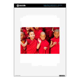 Little Monks in Red Robes iPad 3 Skin