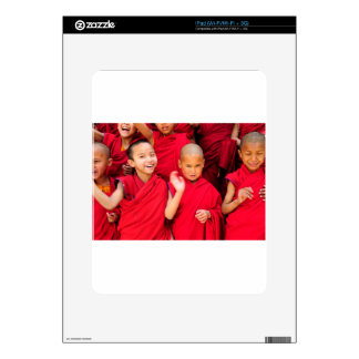 Little Monks in Red Robes iPad Decals