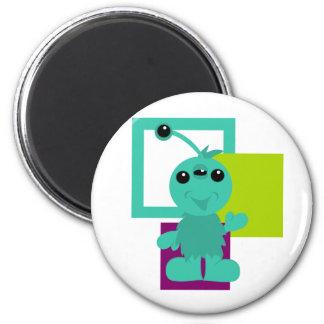 Little Monster Alien Creatures 2 Inch Round Magnet