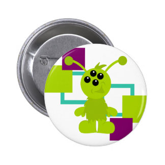 Little Monster Alien Creatures Button