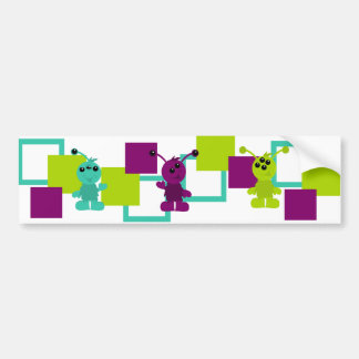 Little Monster Alien Creatures Car Bumper Sticker