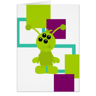 Little Monster Alien Creatures Card