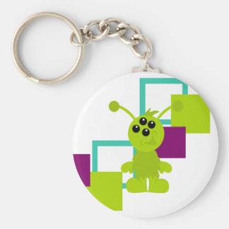 Little Monster Alien Creatures Basic Round Button Keychain