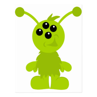 Little Monster Alien Creatures Postcard